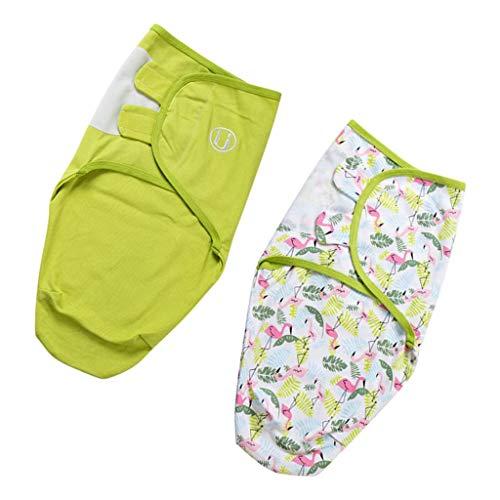 SM SunniMix 2 Piezas Sacos de Dormir de Algodón para Bebés