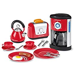 top 10 toy coffee makers Casdon Morphy Richards Kitchen Toy Set-Kettle, Toaster, Coffee Maker