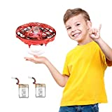 INKPOT Flying Toy Drones for Kids Mini Drones with 2 Batteries Hand Controlled Flying Ball Drone Toys with 2 Speed and LED Light for Kids and Adults, Boys and Girls Toys
