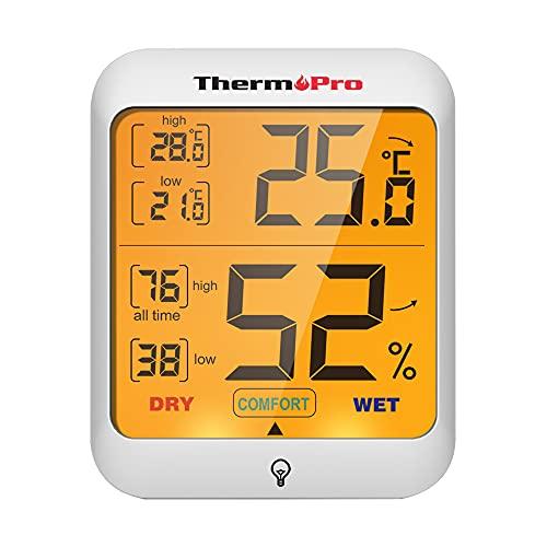 ThermoPro TP53 Termometro Igrometro Interno Misuratore di Umidità e Temperatura Ambiente Digitale...