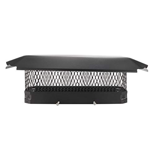 Draft King CBC820 Black Bolt On Galvanized Steel Single Flue Chimney Cap for Use in California and Oregon