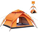 Large Instant Family Tent for Camping,3-4 Person Pop Up Camping Tents,Waterproof and UV