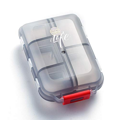 Draagbare Pill Box Organizer, reispillenetui met 10 vakken grote capaciteit Pille Organizer