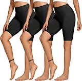 TNNZEET 3 Pack Biker Shorts for Women - 8' High Wasited Buttery Soft Workout Yoga Athletic Shorts