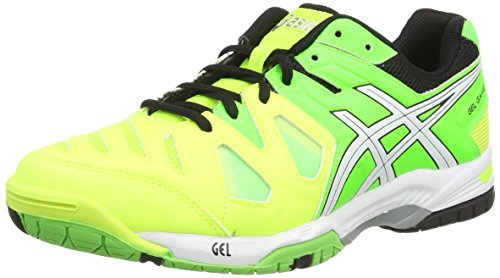 Asics - Gel-Game 5, Scarpe Da Tennis da uomo, giallo (flash yellow/white/flash green 0701), 44.5 EU (9.5 UK)