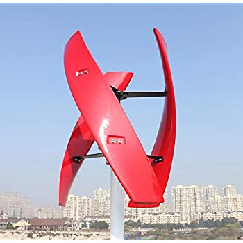 AIBOAT 600w Wind Turbine Power Generator Vertical Maglev Brushless Free Controller (12 V, 400 W)