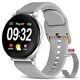 GOKOO Montre Connectée Homme Femme Smartwatch Sport Etanche Montre Intelligente Tactile Vibrante Tensiometre Fréquence Cardiaque Podomètre Contrôle de la Musique pour Huawei Samsung iPhone Android