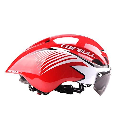 Greaked Casco de ciclismo ultraligero para bicicleta de carretera TT gafas aerodinámicas...