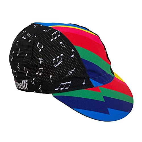 Cinelli Zydeco - Berretto da Ciclismo, Unisex, Taglia Unica, Colore: Multicolore