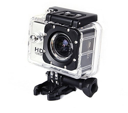 Kinstore SJ4000 Helmet Sports DV 1080P Full HD H.264 12MP Car Recorder Diving Bicycle Action Camera 1.5 Inch LCD 170° Wide Angle Lens Outdoor Waterproof G-Senor Motorbike Camcorder DVR (Silver)