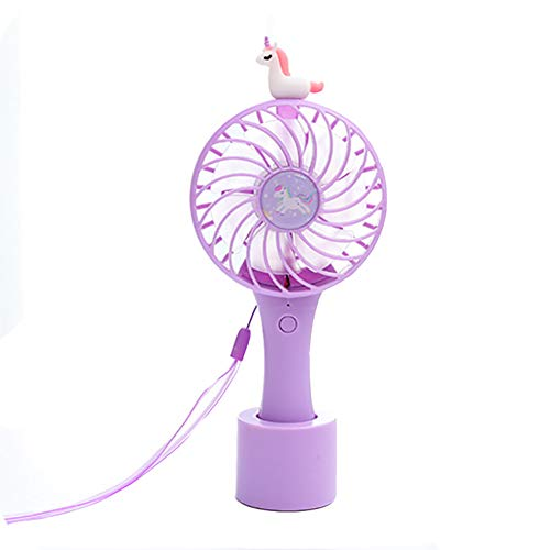 Ynnxia Kreativer USB-Ladelüfter Mini tragbarer Einhornventilator Einfaches Design Palm Fan...