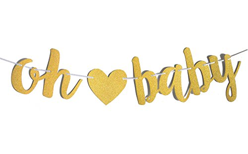 Fecedy Gold Glittery Letters Oh Baby With Heart Banner For Baby Shower Buy Online In Gambia Fecedy Products In Gambia See Prices Reviews And Free Delivery Over 3 500 D Desertcart
