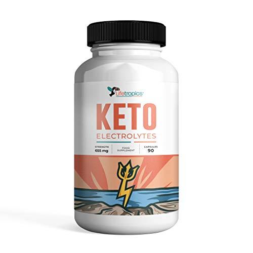 Lifetropics Keto Electrolytes | Hydration Supplement for Low Carb Diets | Replenishes Magnesium, Sodium, Calcium, Potassium | Rich in Minerals | 90 Vegecaps