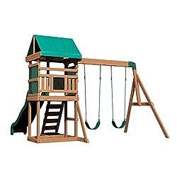 powerful Wooden swing backyard Discovery Buckley Hill