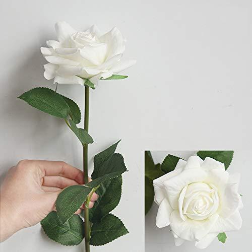 MEITAO Flor Artificial Hidratante Rose Latex Real Touch Artificial Flower Home En La Pared De La Flor De La Boda DIY Decoración De Flores Falsas