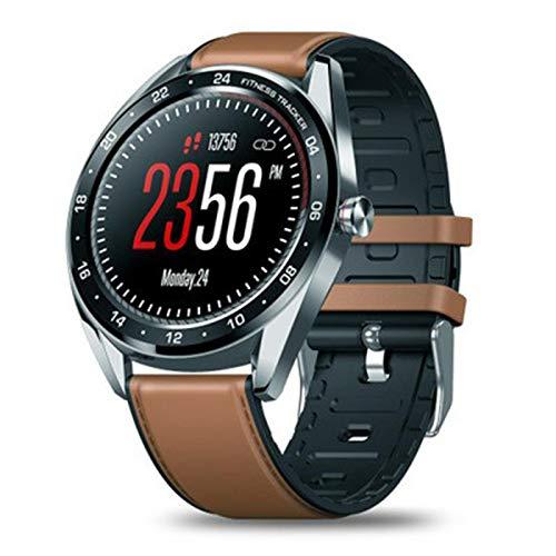 CYONGYOU Smart watch de los hombres color pantalla táctil mensaje de notificación Plata