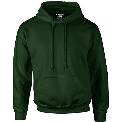 Gildan Heavyweight DryBlend Unisex Kapuzenpullover / Hoodie / Kapuzensweater XL,Waldgrün
