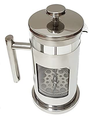 Pod-Brew Stainless Steel & Glass French Press • Cafetiere • Coffee & Tea Press • Makes up to 1 Quart!