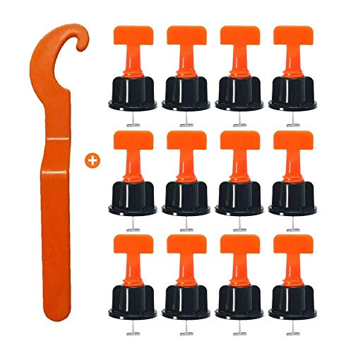 ZunBo - Kit de ajuste para baldosas (50 piezas) Espaciadores de uñas de baldosas, kit de herramientas de instalación de azulejos reutilizables
