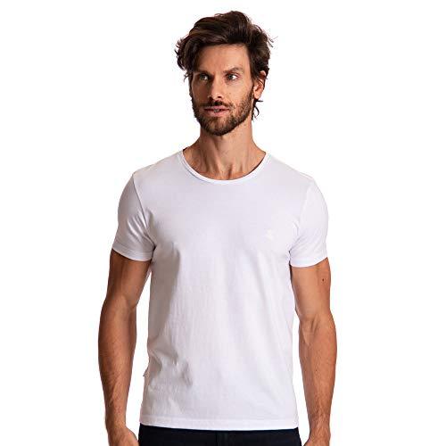 Camiseta Logomania, Sergio K, Masculino, Branco, EG