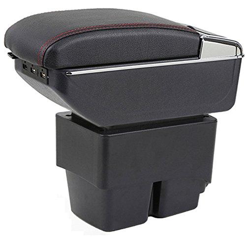 Auto Armlehnen Mittelarmlehne Mit 7 USB Passt Für Fiesta 3 MK7 Schwarz