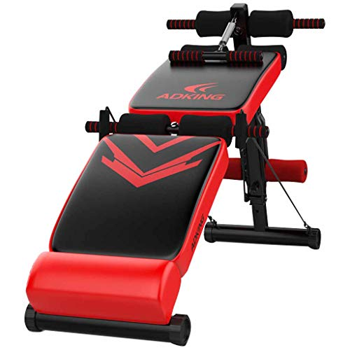 sit-up board Sit Up Ab Bench Decline Addominale Peso Regolabile Bench Work Utility Scricchiolio Board per Home Fitness Reality Gym Grado Commerciale Roscloud@