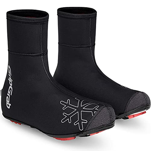 GripGrab Unisex– Erwachsene Arctic X Winter Mountainbike Gravel Überschuhe Warme wasserdichte Fleece Gefütterte MTB CX Radsport Überzieher Fahrrad, Schwarz, 44-45