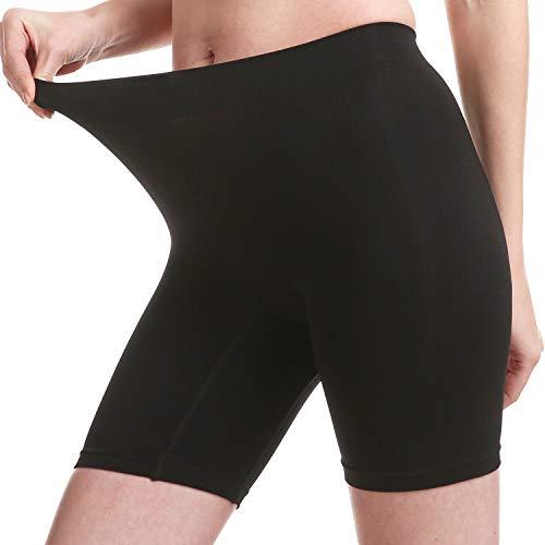 MELERIO Unterwäsche Damen Bauchweg Unterhose Damen Hohe Taille Unterwäsche Atmungsaktive Nahtlose Slip Kurz für Yoga, Fitness, Lange Röcke