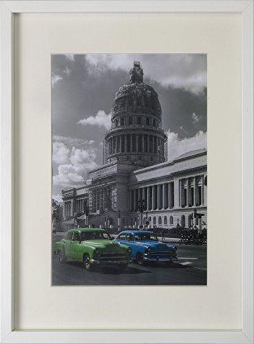 BD ART 30x40 cm Dokument, Zertifikat, MDF Bilderrahmen mit Passepartout 21x30 cm (A4), WEIß