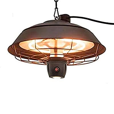 Patio Heater - Outdoor Heater, 600W/1500W, Ceiling Mounted Heater, Waterproof, Outdoor or Indoor Use, Infrared Heating Party Heater Ideal for Balcony, Courtyard, Garage & Patio Use Electric Heater