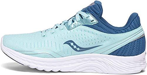 Saucony Women's S10551-25 Kinvara 11 Running Shoe, Aqua/Blue - 9 M US