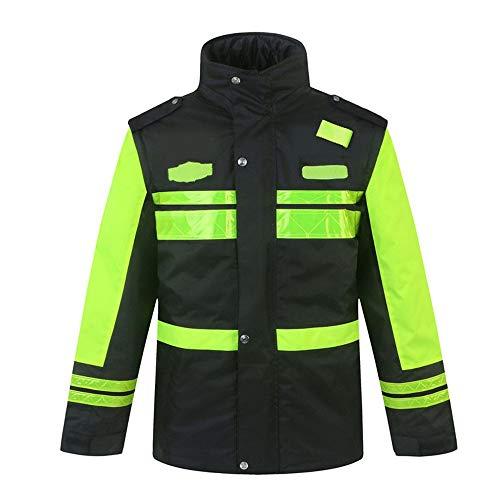 Xingsiyue Alta Visibilidad Sudadera con Capucha para Hombres Reflexivo Chaqueta de Seguridad Ropa de Trabajo Jersey con Capucha