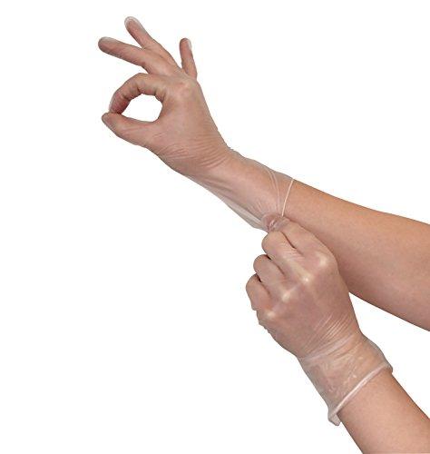Einmalhandschuhe 100 Stück Vinyl Handschuhe Größe M | Vinylhandschuhe puderfrei günstig Allergiker geeignet | Einweghandschuhe latexfrei von Vidima