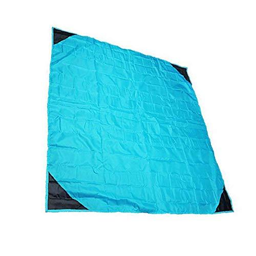 HUI JIN Manta de picnic azul 140 x 140 cm para playa compacta impermeable para exteriores