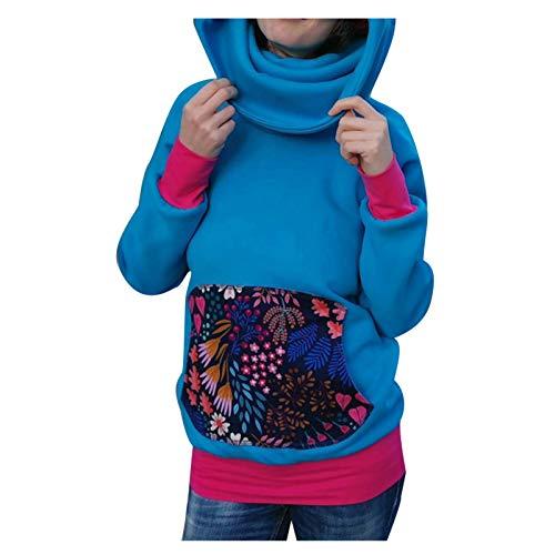Dorical Kapuzenpullover,Damen Sweatshirt mit Super-Hoher Kragen Pulli Winterpullover...