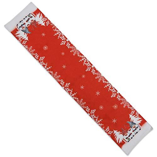 ZIRAN Camino de Mesa de gnomo Sueco de Navidad, Mantel Individual, decoración de Boda para el hogar, Camino de Mesa