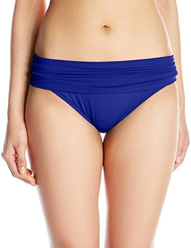La Blanca Women's Island Goddess Shirred Band Hipster Bikini Swimsuit Bottom, Blueberry, 10