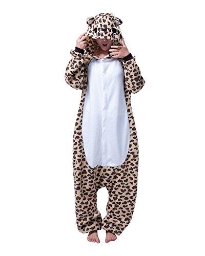 Emmarcon - Disfraz de carnaval halloween pijama cálido de animales kigurumi cosplay zoológico onesies S/altezza 149-159cm,max 60kg marrón