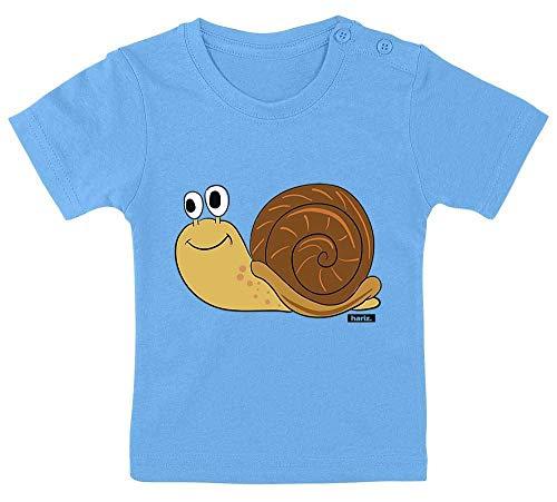 HARIZ Camiseta para bebé con diseño de caracol y animales de la selva, incluye tarjeta de regalo