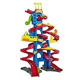 Fisher-Price- Little People Skyway Città Trasformabile, Playset Pista con Due Veicoli Wheelies Inclusi, Giocattolo 1+ Anni, Multicolore, FXK60
