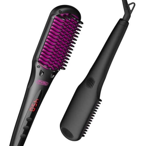 TYMO Ionic Hair Straightener Brush - Enhanced...