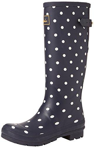 Joules Women's Welly Print Rain Boot, french navy spot, 7 Medium UK (9 US)