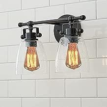 Black Vanity Light for Bathroom Lighting Fixtures - Upgrade Your Bathroom Remodel Elegance Vanity Lighting Fixtures Over Mirror with Bubble Glass Shade,Modern Farmhouse Light Fixtures(2 Light)
