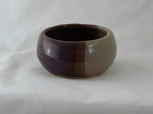 Pottery Purple and Beige Shaving Soap Bowl- Handmade in the USA, Beautiful Gift!