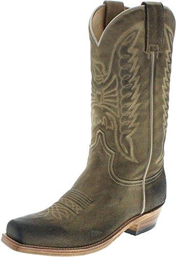 Sendra Boots 2073 Bronson Serraje Harley Westernstiefel für Herren Braun, Groesse:46