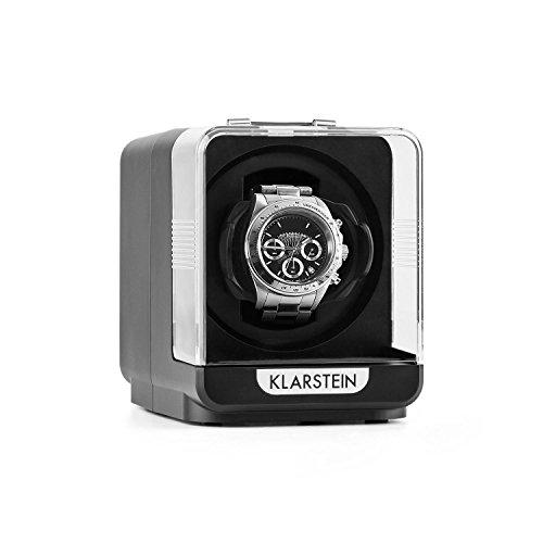 Klarstein Eichendorff - Uhrenbeweger, Uhrendreher, Uhrenbox, Uhrenkasten, Kapazität: 1 x Automatikuhr, 4 Bewegungsmodi, Laufruhig, Sichtfenster, Netzbetrieb, schwarz