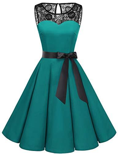 Bbonlinedress 50er Jahre Kleider weihnachtskleider Kleid Hochzeit gast Kleider für hochzeitsgäste Spitzenkleid Damen Rockabilly Kleider Damen...