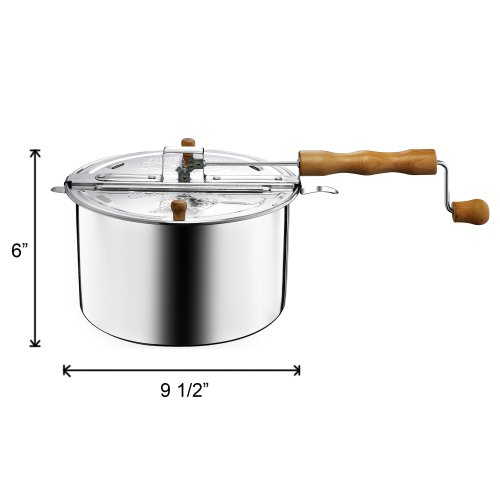 Product Image 5: 6250 Great Northern Popcorn Original Spinner Stovetop 6 1/2 Quart Popcorn Popper – Theater Popcorn at Home!