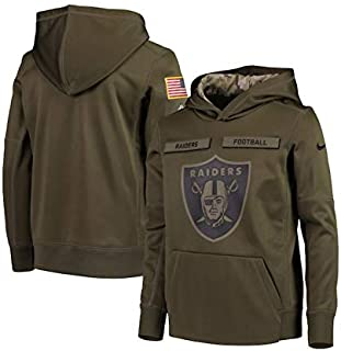6f0e30a98 Nike Youth Oakland Raiders Green Salute to Service Pullover Performance  Hoodie
