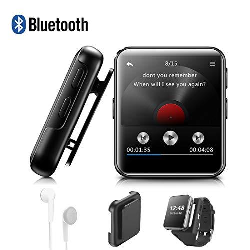 """Lettore MP3 BENJIE 8GB Bluetooth 1.5""""Sport Lettore MP3 Full HiFi Screen Lossless Sound, Radio FM, Registratore vocale con auricolare, Ebook, Lettore video per musica e Appassionati di sport"""